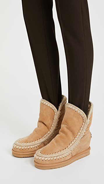 ONE by Mou Inner Wedge Short Boots
