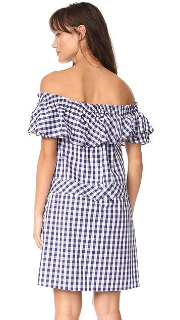 ONE by UnitedWood Alicia Ruffle Gingham Dress