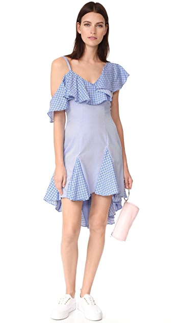 ONE by UnitedWood Daria Off Shoulder Ruffle Dress