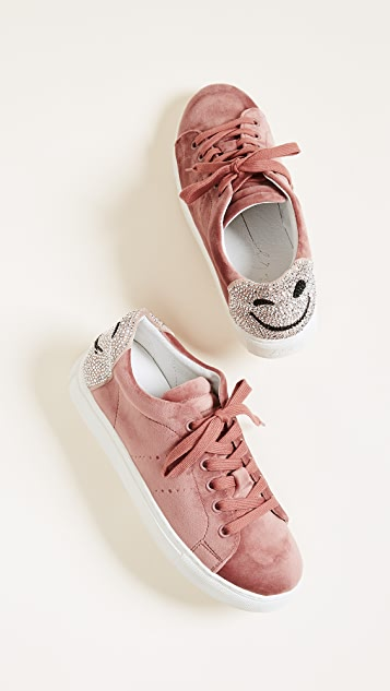 3dc87abf984f ... ONE by Lola Cruz Smile Velvet Sneakers ...
