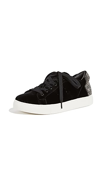 ONE by Lola Cruz Smile Velvet Sneakers