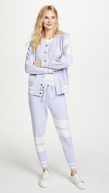ONE by Zoe Jordan Zoe Jordan Edison & Hitchcock Bomber & Trouser Set - Powder Blue/White