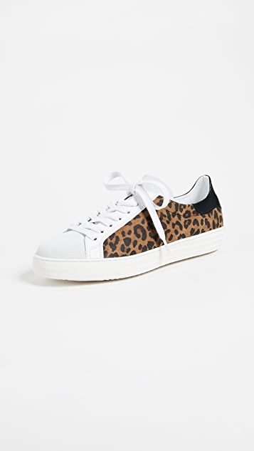 ONE by Dept. of Finery Indiana Leopard Laceup Sneakers