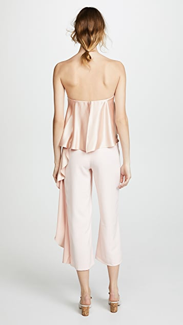 ONE by Mestiza New York Jacqueline Cropped Jumpsuit with Ruffle