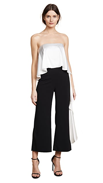 ONE by Mestiza New York Jacqueline Cropped Ruffle Jumpsuit