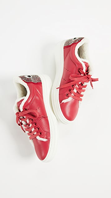 ONE by Lola Cruz Lace Up Eye Sneakers