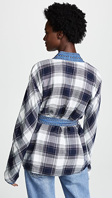 ONE by New Friends Colony Reversible Plaid Kimono