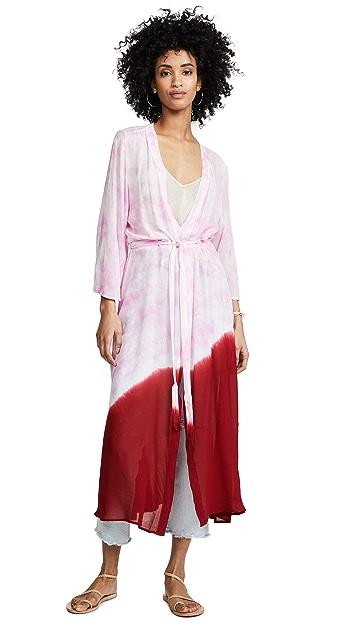 ONE by New Friends Colony Electric Tie Dye Kimono