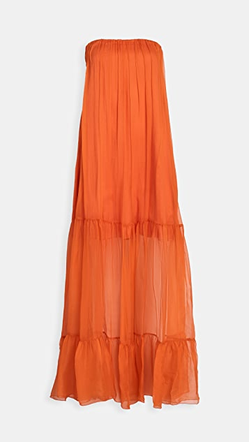 ONE by PINKO Strapless Tiered Dress