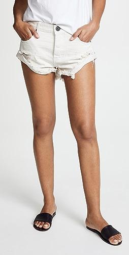 One Teaspoon - Worn White Bandit 短裤