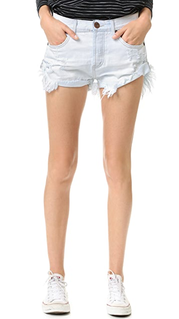 e698c117bd One Teaspoon Xanthe Bandits Shorts | SHOPBOP