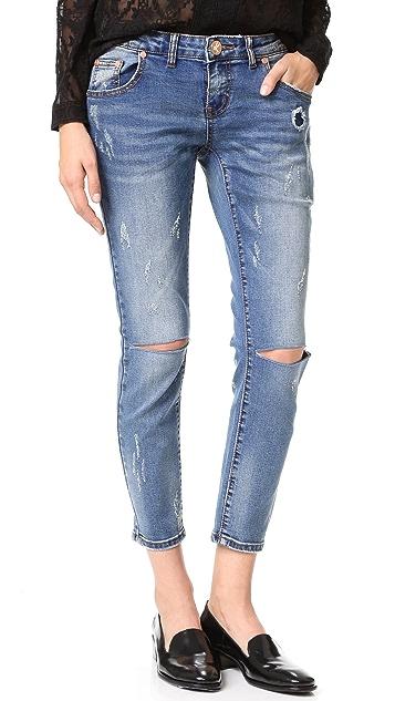 One Teaspoon Blue Blonde Freebirds II Jeans