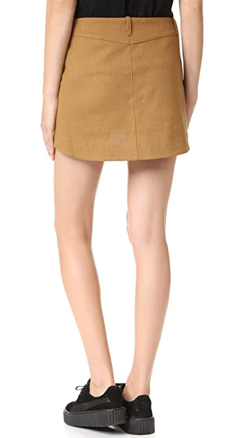 One Teaspoon Faux Suede Skirt