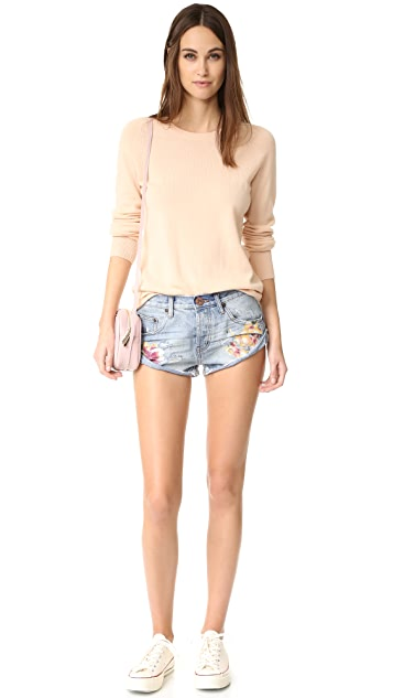 One Teaspoon Orchid Bandit Shorts