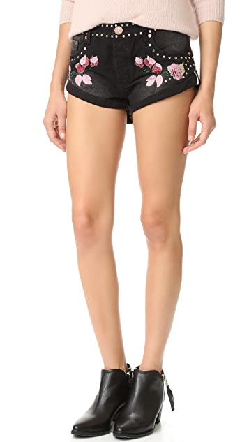 One Teaspoon Bird Of Paradise Bandit Shorts
