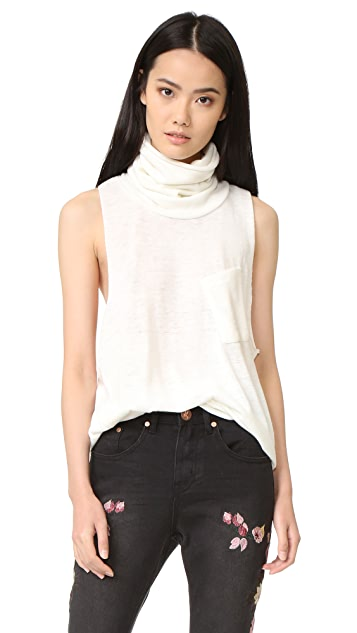 One Teaspoon Reno Wool Parisienne Roll Neck Top