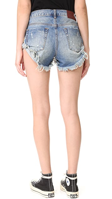 One Teaspoon Blue Buoy Bandit Shorts