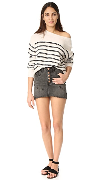 One Teaspoon Coal Miniskirt