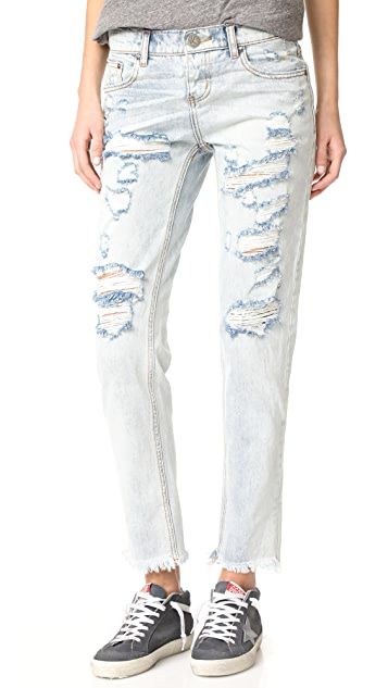 One Teaspoon Blue Hart Awesome Baggie Jeans