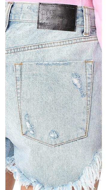 One Teaspoon Blue Hart Outlaw Shorts