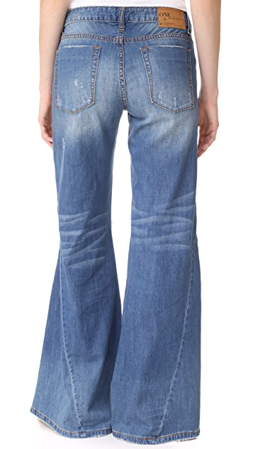 One Teaspoon Johnies Bell Bottom Jeans