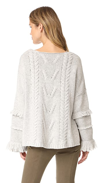 One Teaspoon Jethro Fringed Knit Sweater