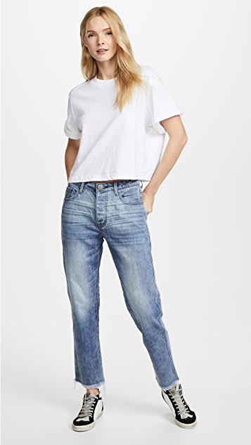 One Teaspoon Truckers Mid Rise Straight Leg Jeans