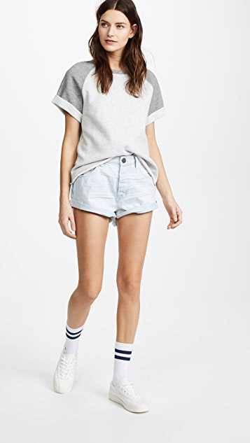 One Teaspoon Mid Waist Bandits Shorts