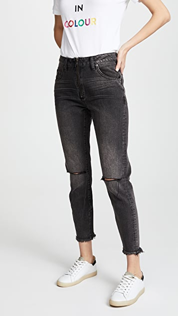 One Teaspoon High Waist Zip Freebird Jeans