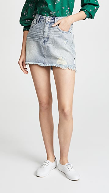 One Teaspoon High Waist 2020 Miniskirt