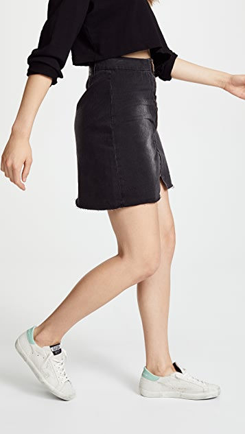 One Teaspoon Viven High Rise A-Line Skirt