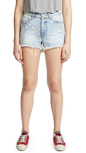 One Teaspoon High Waist Bonita Denim Shorts