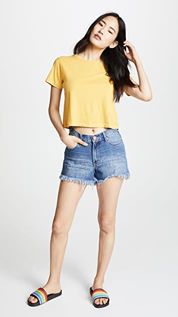 One Teaspoon Hawks High Waist Denim Shorts
