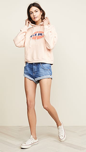 One Teaspoon Cali Blue Bandits Denim Shorts