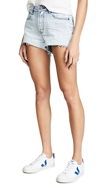 One Teaspoon Antique Truckers Relaxed Shorts