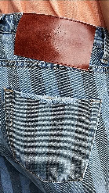 One Teaspoon Zephyr Eagles Cropped Boyfriend Jeans