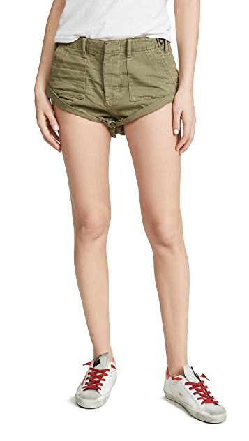 One Teaspoon Militaire Bandits Denim Shorts