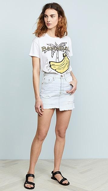 One Teaspoon Brando Denim Miniskirt