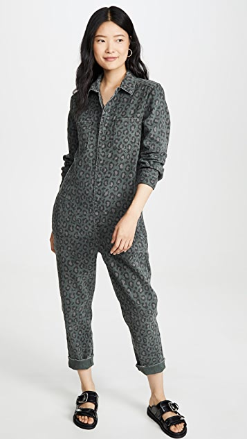 One Teaspoon Leopard Night Crawler Paradise Jumpsuit