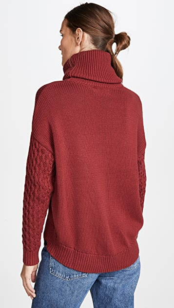 One Teaspoon Blood Rider Roll Neck Knit Sweater