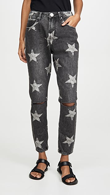 One Teaspoon Camden Star Freebirds High Waist Skinny Jeans