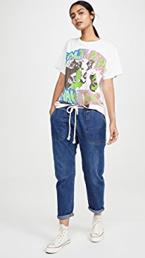 Bluemoon Shabbies Drawstring Boyfriend Jeans
