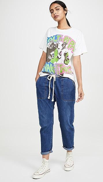 One Teaspoon Bluemoon Shabbies Drawstring Boyfriend Jeans