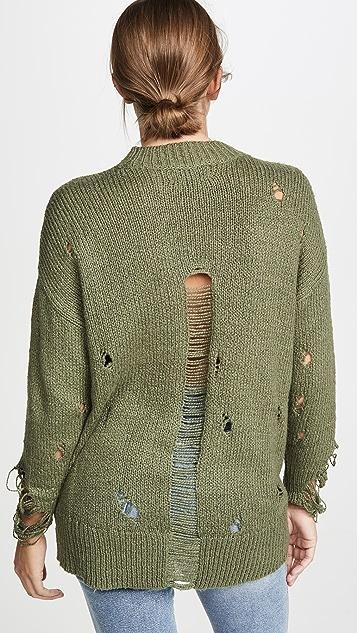 One Teaspoon Khaki Destroyed Fishermans Sweater
