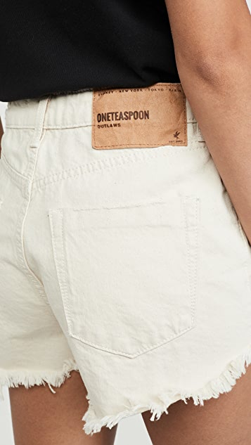 One Teaspoon Outlaws 中长牛仔短裤