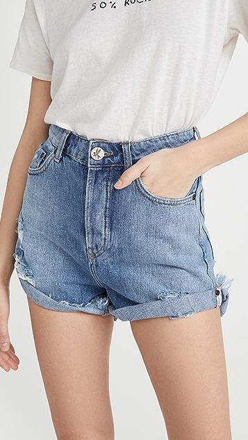 One Teaspoon Bandits High Waist Denim Shorts