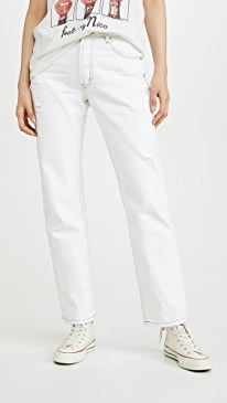 Truckers Mid-Rise Straight Leg Jeans
