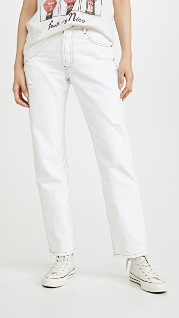 One Teaspoon Truckers Mid-Rise Straight Leg Jeans