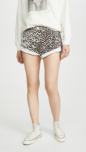 One Teaspoon Bandits Mid-Waist Denim Shorts
