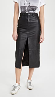 One Teaspoon Lola Leather Long Skirt